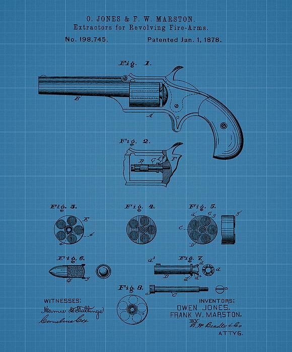 Firearm Extractor Blueprint Patent My Photography And Digital Art - new blueprint gun art