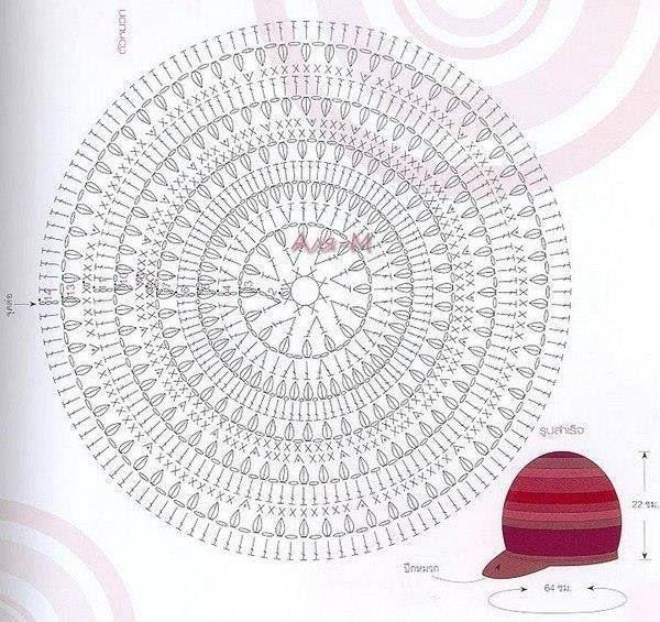 Patrón de Boina | gorros | Pinterest | Diagram, Crochet and Handmade ...