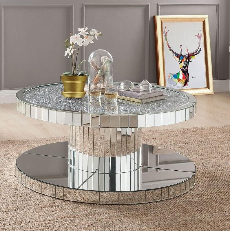 Acme 80302 Mirrored End Table Mirrored Coffee Tables Coffee