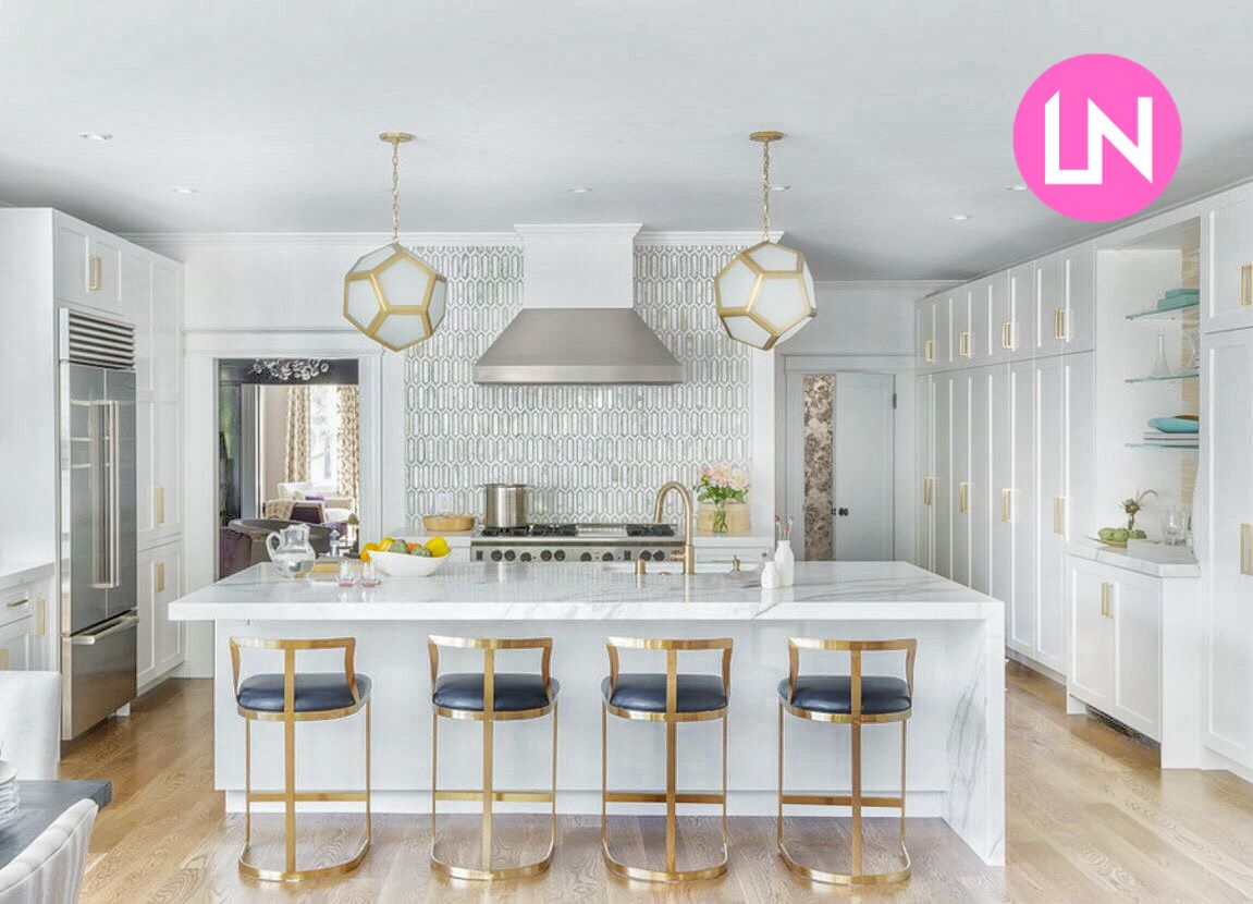 Are You A Fan Of The Gold Tone Accents In This Kitchen Or