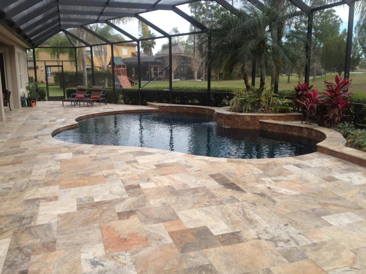 outdoor stone tile flooring ideas 12