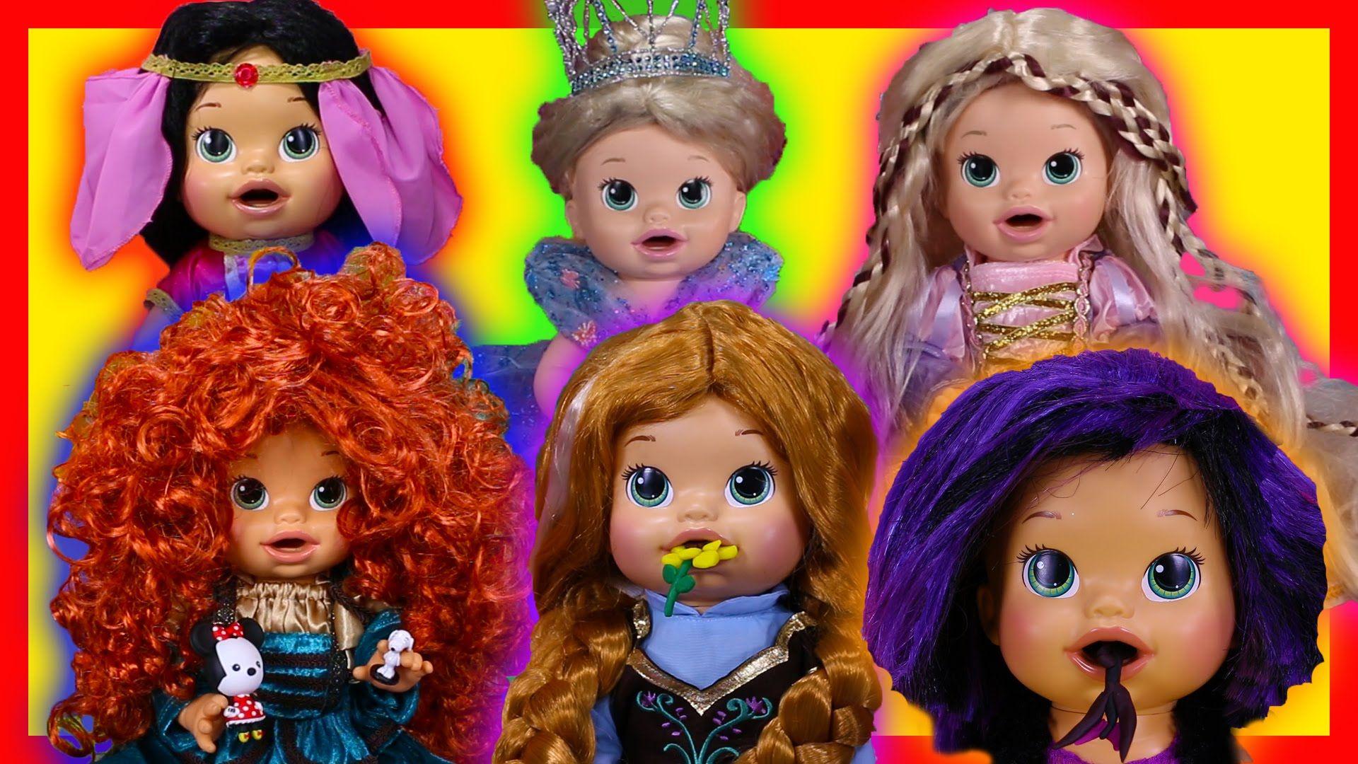 Baby Alive Custom Princess Dolls Throw Up Play Doh Reverse Video Baby Alive Princess Dolls Custom Baby