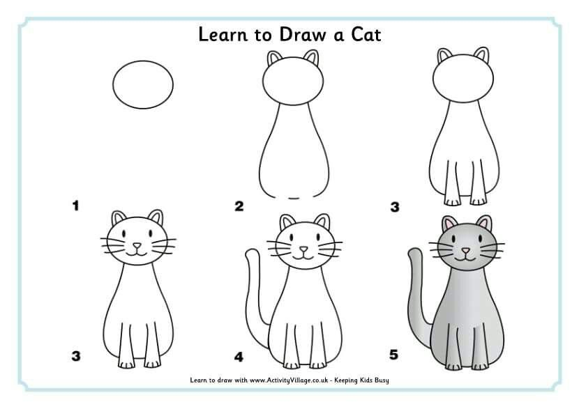 Desenho Simple Cat Drawing Learn To Draw Easy Animal Drawings
