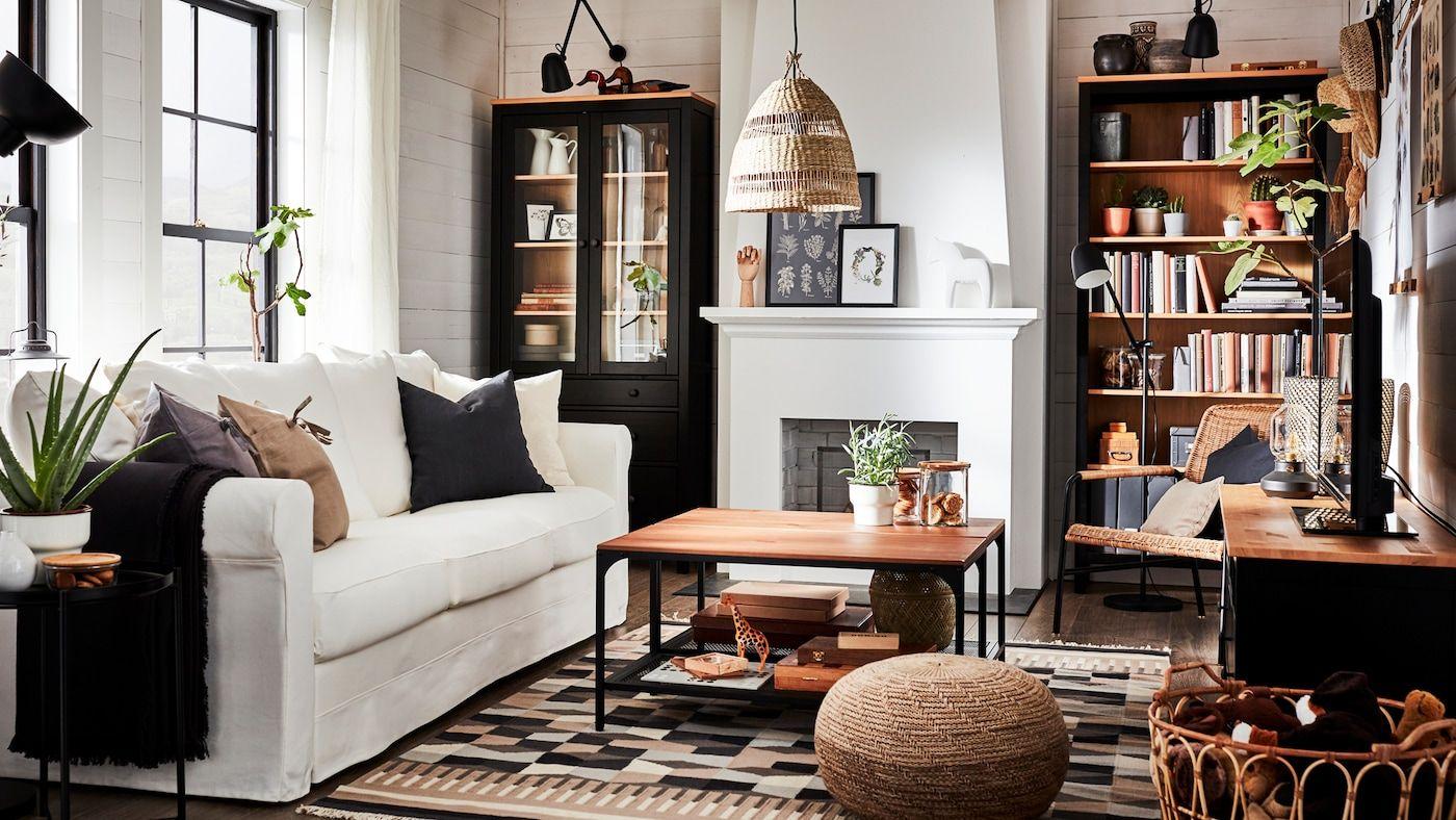 Un Salon Traditionnel Et Chaleureux Ikea Living Room Living Room Inspiration Ikea Living Room Furniture Ikea living room decor