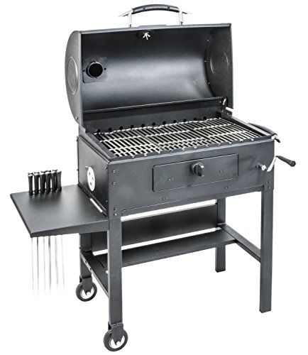 Blackstone Charcoal Grill Barbecue Smoker With Automatic Rotisserie Blackstone 3 In 1 Kabob Charcoal Bbq Grill Best Charcoal Grill Charcoal Bbq