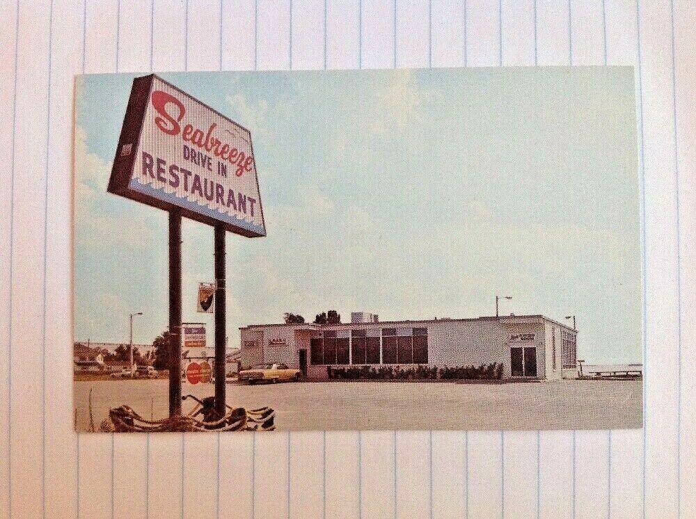 Postcard Tampa Florida Seabreeze Restaurant Causeway Blvd Old Car Postcard Vintage Postcards Vintage Advertisements