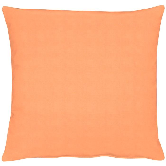 Apelt Kissen Uni 48 x cm Orange Baumwolle