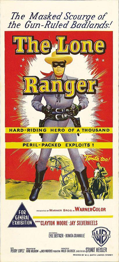 The Lone Ranger Australian Poster Art By Everett Lone Ranger Western Film Poster Art