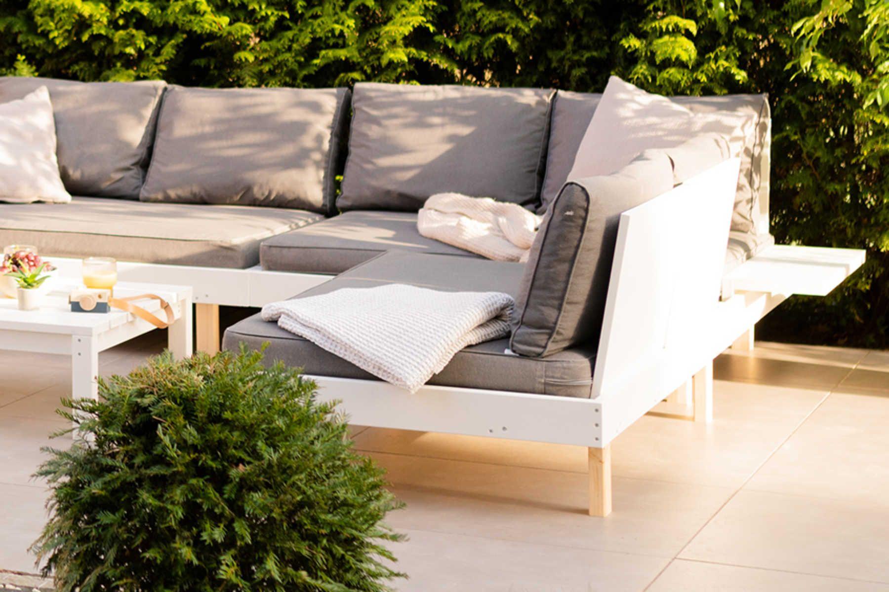 Loungemobel Kiluja Selber Bauen Create By Obi In 2021 Lounge Mobel Lounge Mobel Terasse Outdoor Lounge Mobel