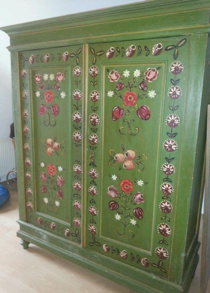 Alter Kleiderschrank Bauernschrank Rustic Painted Furniture