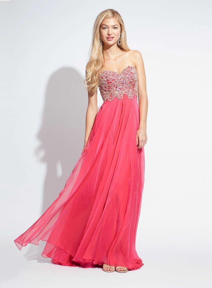 Jovani Blush Strapless Embellished Floor Length Prom Dress Sz 6 NWT #Jovani #PromWeddingFormalPartyPageantGalaEvening