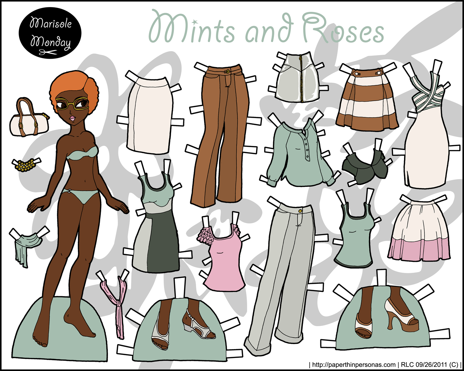 Marisole Monday: Mint and Roses