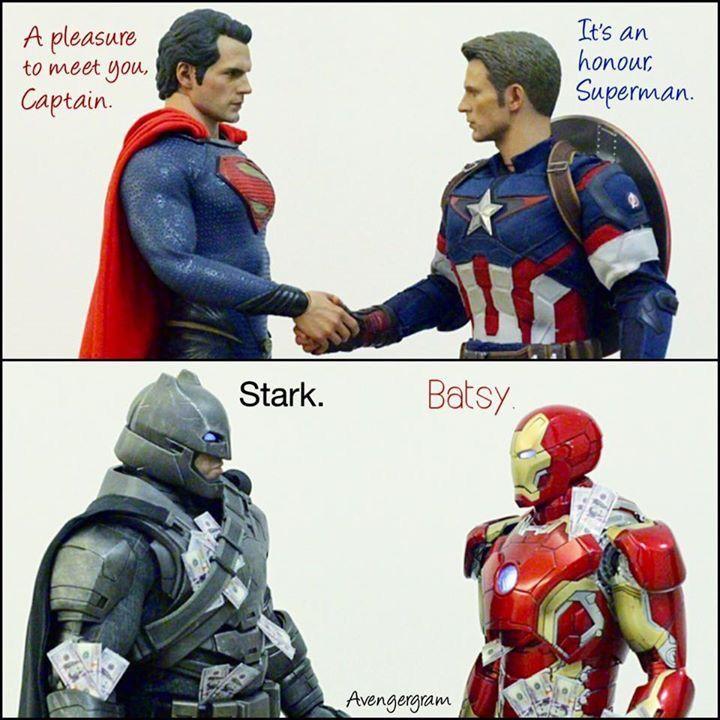 Superman and Captain America, Batman and Iron Man