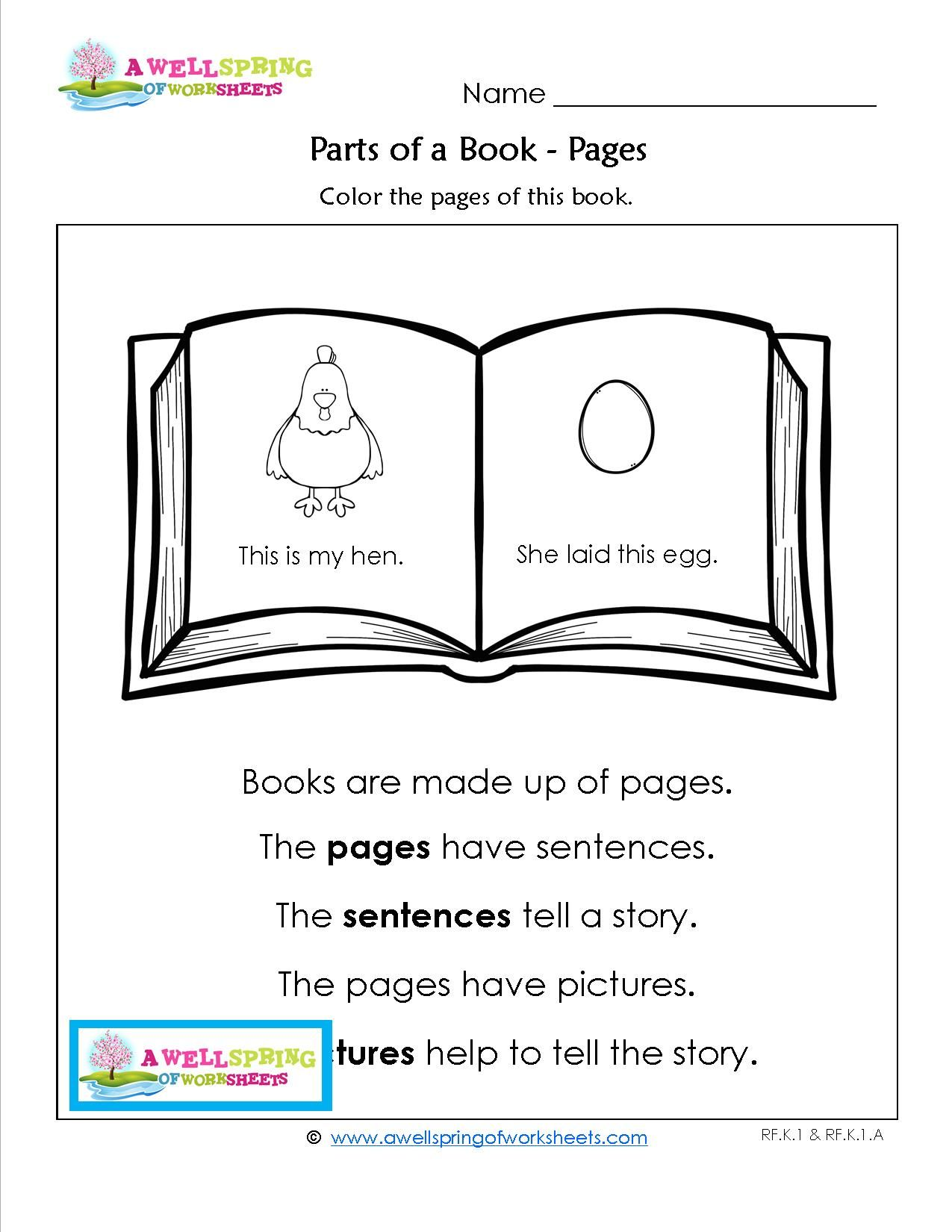 Preschool Library Worksheets