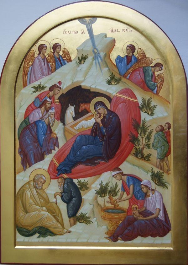 Икона Рождества <br/>Хрисова | Рождение, Рождество, Религиозное искусство