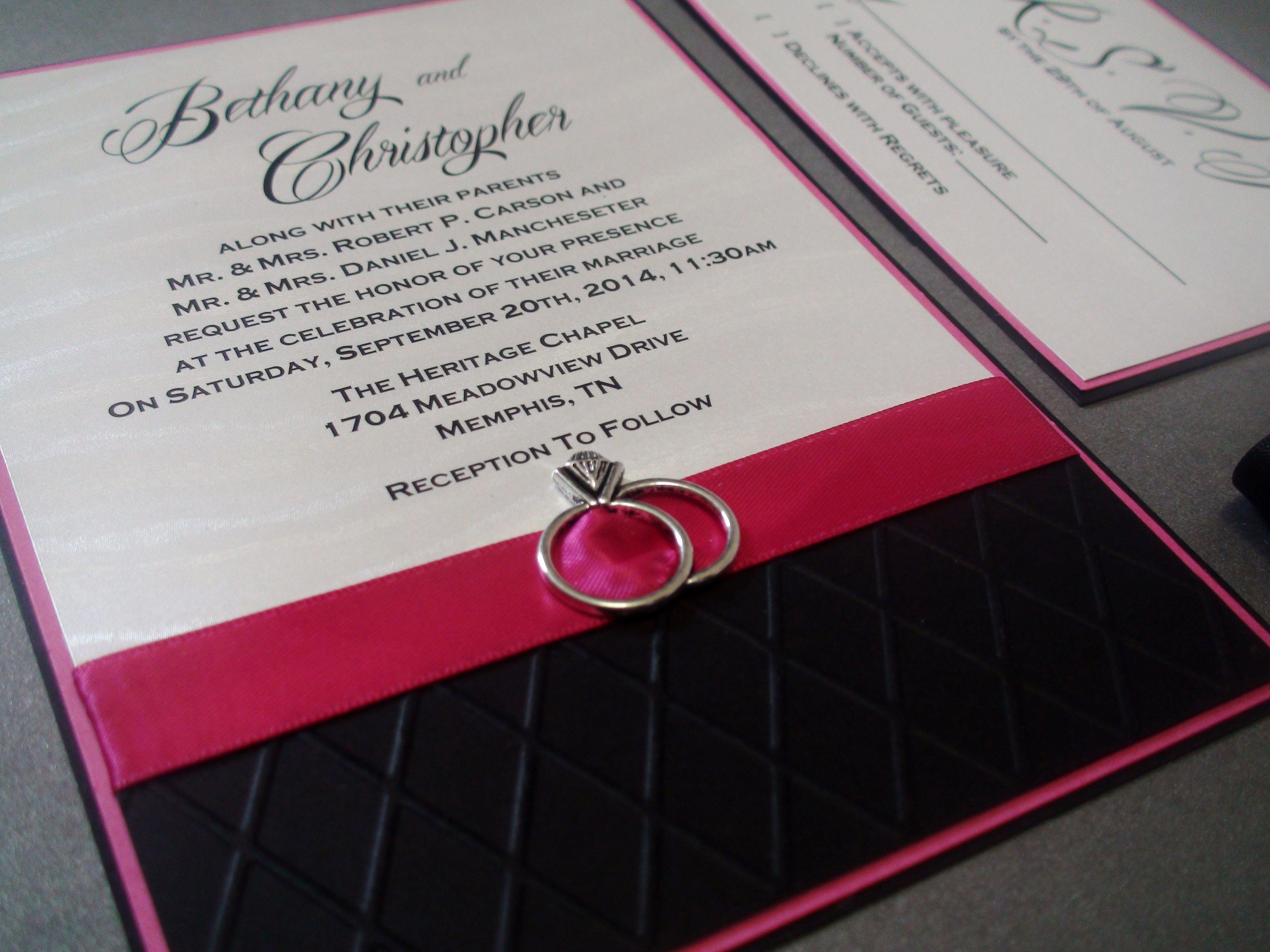 Embossed & Embellished! | Wedding: Fuschia! | Pinterest | Emboss ...