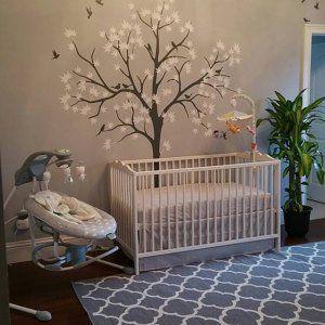 Große Kinderzimmer Wand Dekoration weißen Baum Wand
