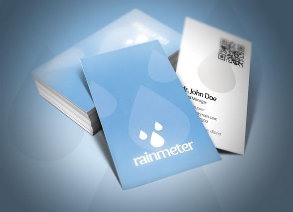 Check out Rain Meter Business Card by Rafael Oliveira on Creative Market