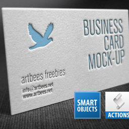 Letterpress business card photoshop action special effects and letterpress business card photoshop action special effects and textures actions reheart Gallery