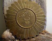 Vintage Indian Sun Brass/Tin Wall Hanging