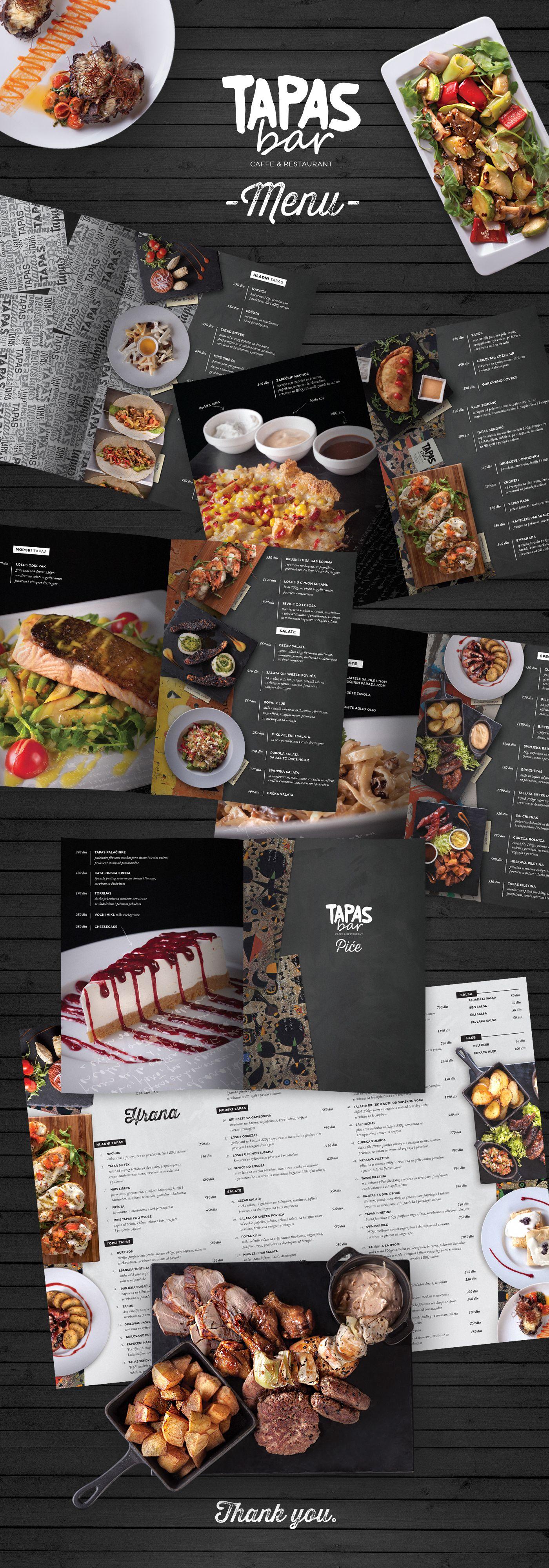 Menu Design For Tapas Bar Restaurantdesign Borko Nericphotography