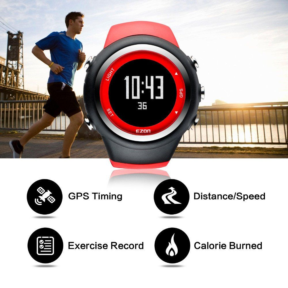 EZON T031 Calorie Counter GPS Timing Outdoor Running Speed ...