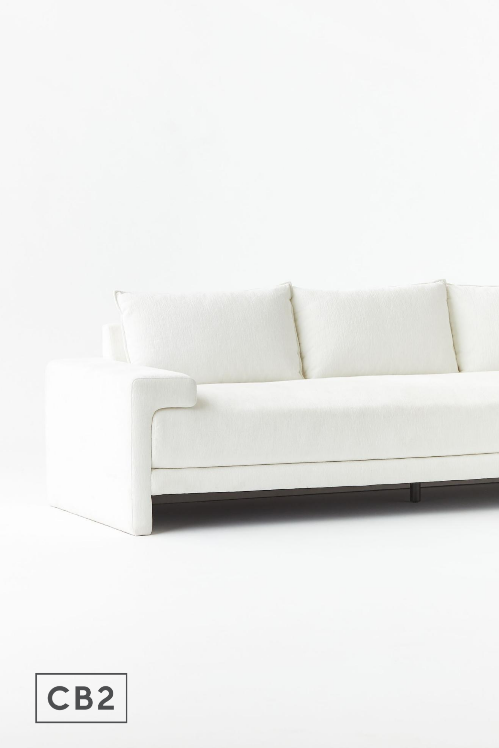 Camden White Sofa Reviews Cb2 In 2020 Sofa White Sofas Living Room Furniture Sofas