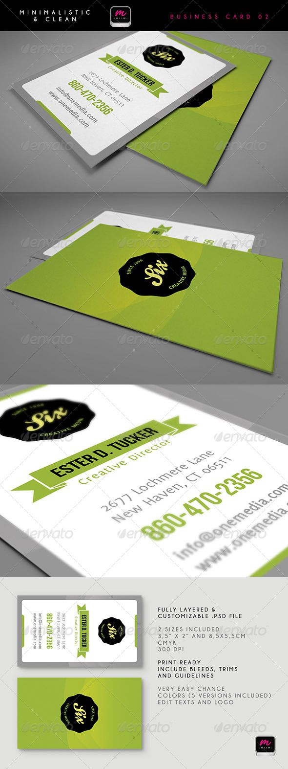 Clean Business Card Template 03 Cleaning Business Cards Business Card Design Minimal Business Card Template