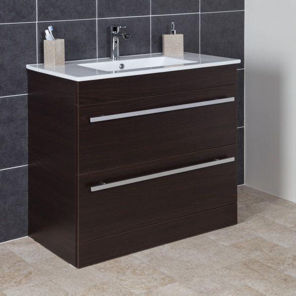 Icona Classic Chestnut Floorstanding Vanity Unit Amp Basin