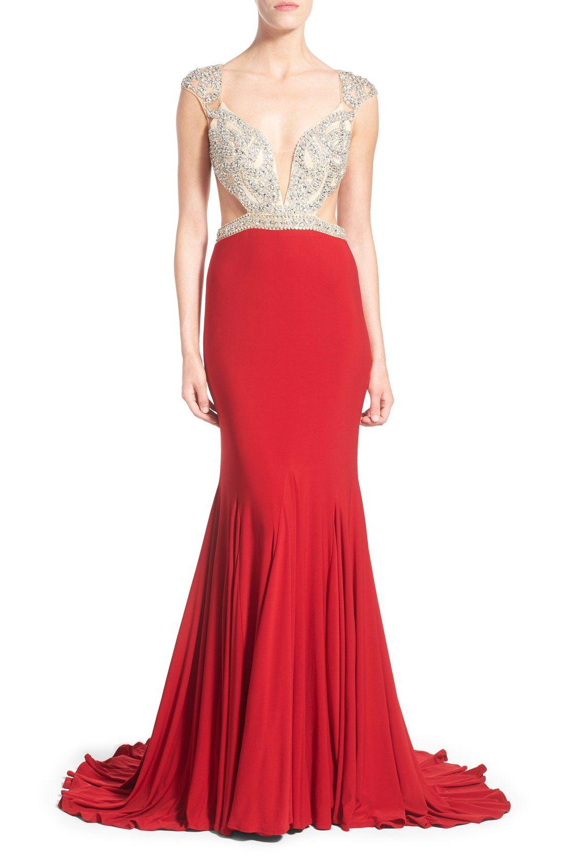 Mac duggal ugwenu embellished bodice gown my style pinterest