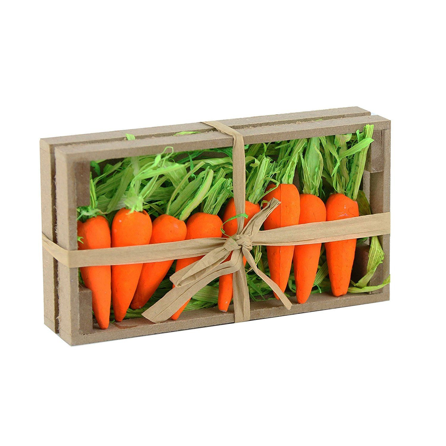 Amazonwewill wewill beatiful lifelike orange foam carrots easter oranment rabbits gift decoration easter party home decor pack of negle Images