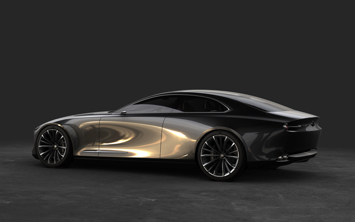Download Wallpapers Mazda Vision Coupe Concept 2017 Side View