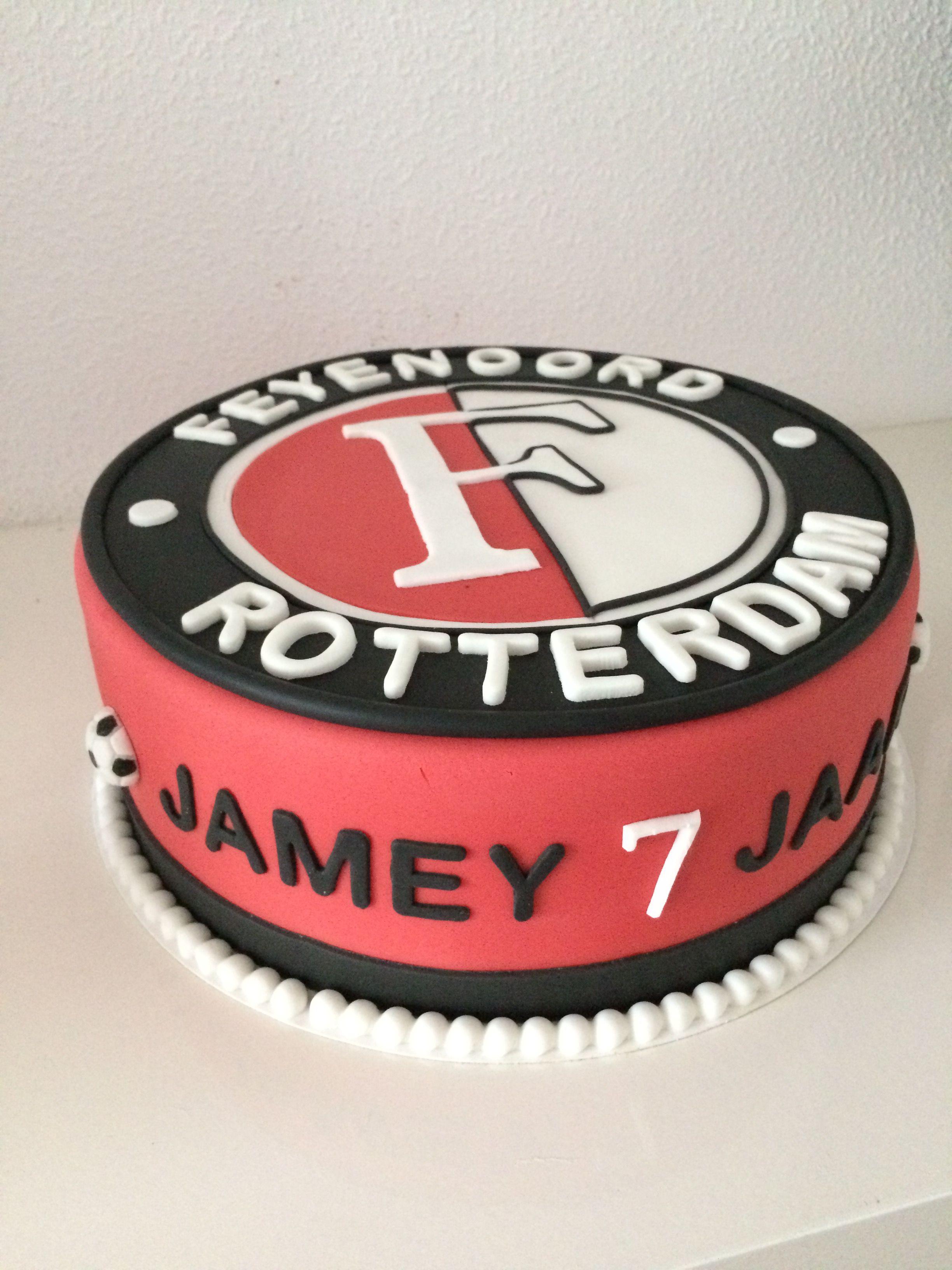 Feyenoord Taart Voetbal Taart Taart Taart Fondant