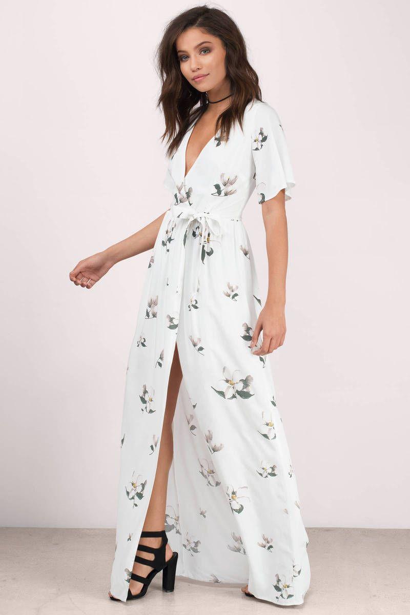 Emma white multi floral maxi dress hubby u wifey pinterest