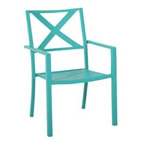 Afton Metal Stacking Chair Turquoise Threshold Metal Stacking