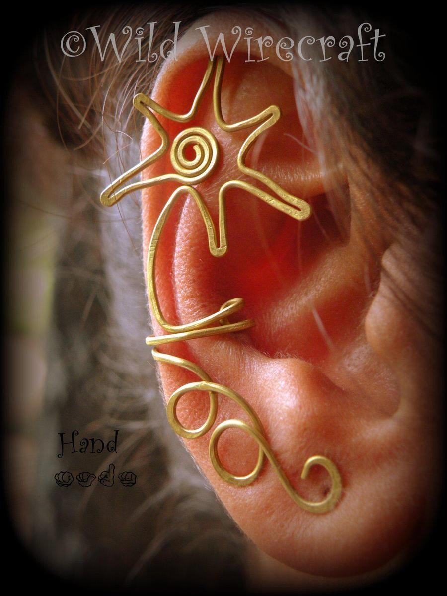 Ear cuff star ds1 by wild_wirecraft earrings cartilage