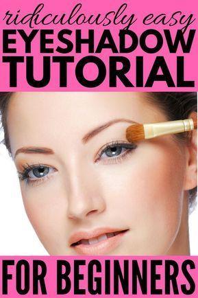 ridiculously easy stepbystep eyeshadow tutorial for