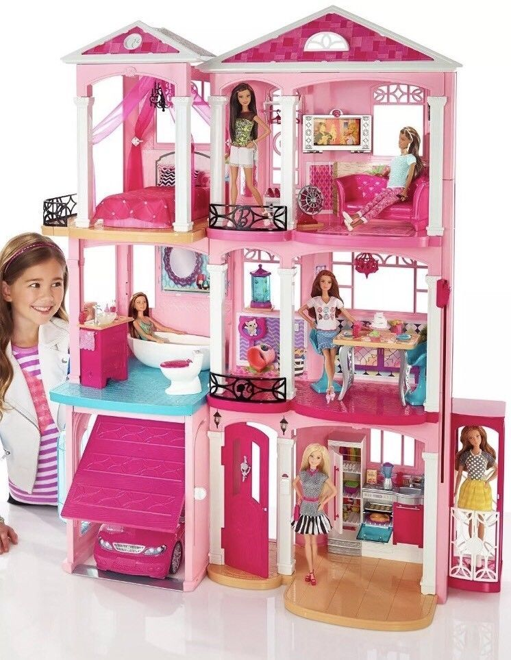Mattel Barbie Dream House 3 Story Dollhouse Furniture Elevator Pool