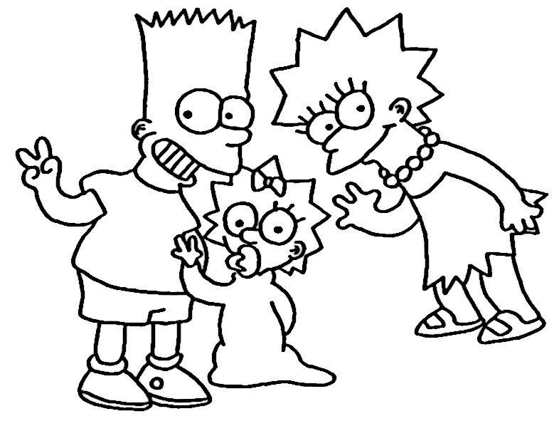 Dibujos para Colorear Los Simpsons 21 | Simpsonfuny | Pinterest ...