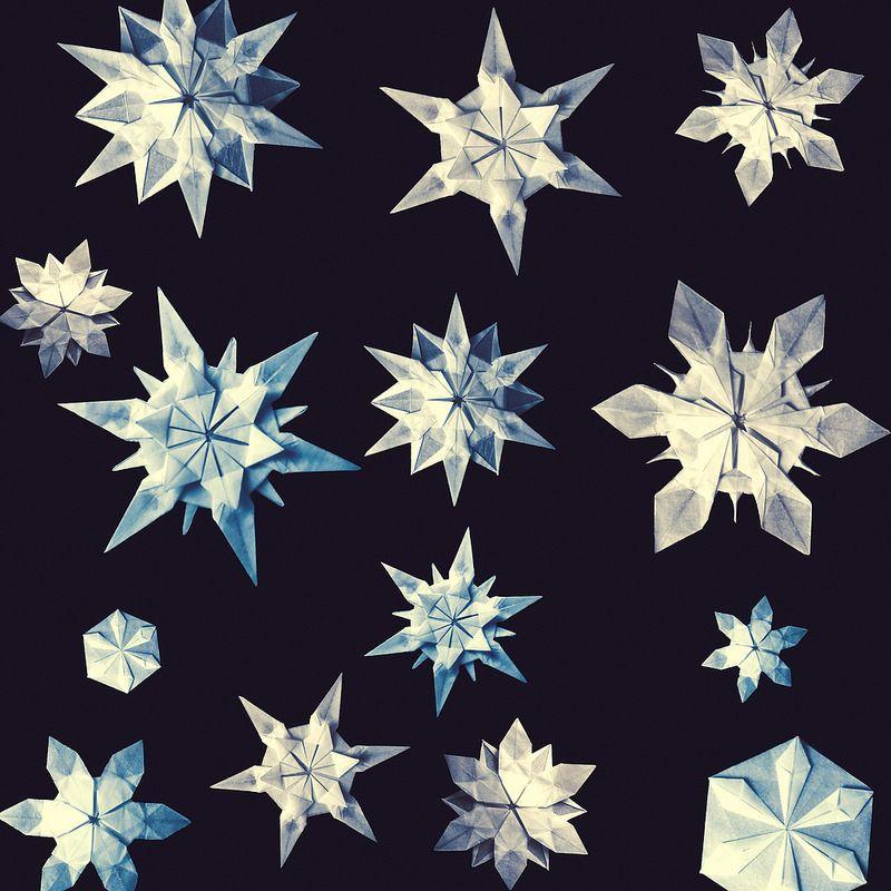 Origami Snowflakes Riccardo Foschi Christmas Origami Pinterest
