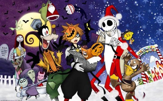 Cross Stitch Pattern For Kingdom Hearts Halloween Characters