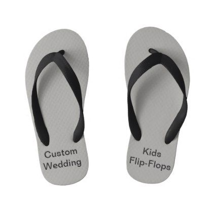 0dec6796d94a02 Custom Wedding Gray Children s Flip Flops -  outdoor  wedding  gifts ...