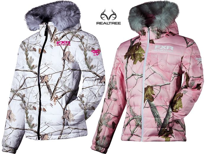 7097935ca23ea FXR Puff APHD Realtree Snow and Pink Camo Women's Snowmobile Jacket  #RealtreeCamo #Snowmobile #FXR
