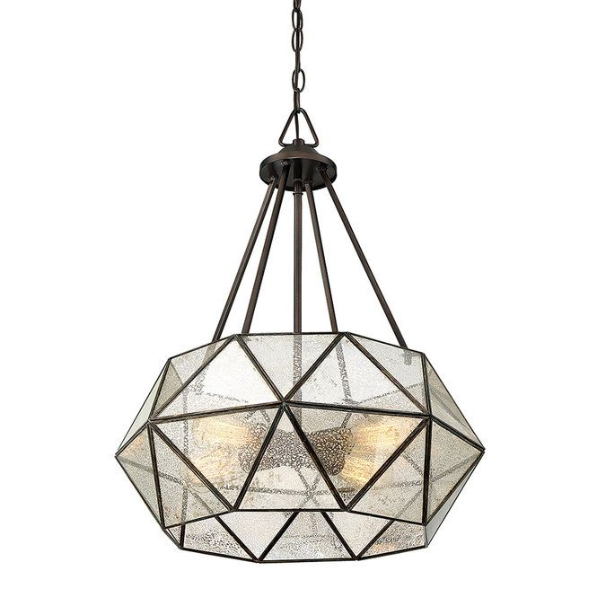 Check Out Prism Framed Mercury Glass Chandelier 4 Light From Shades Of