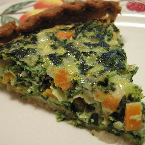 Spinach And Carrot Quiche Recipe Quiche Recipes Recipes Spinach Quiche Recipes