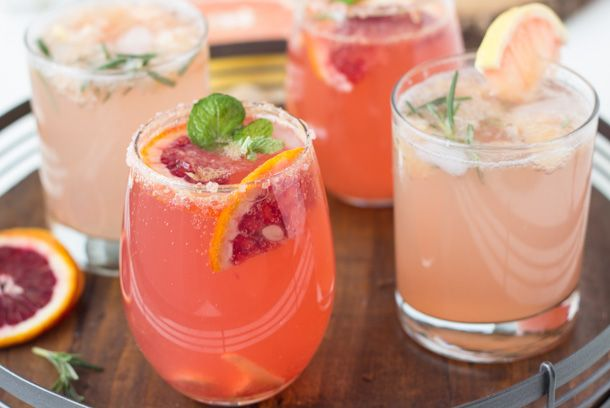 Sparkling Grapefruit Cocktails