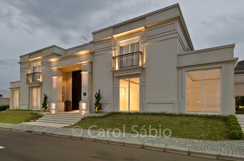 Fachada casa boulevard casas cl ssicas por arquitetare for Foto casa classica