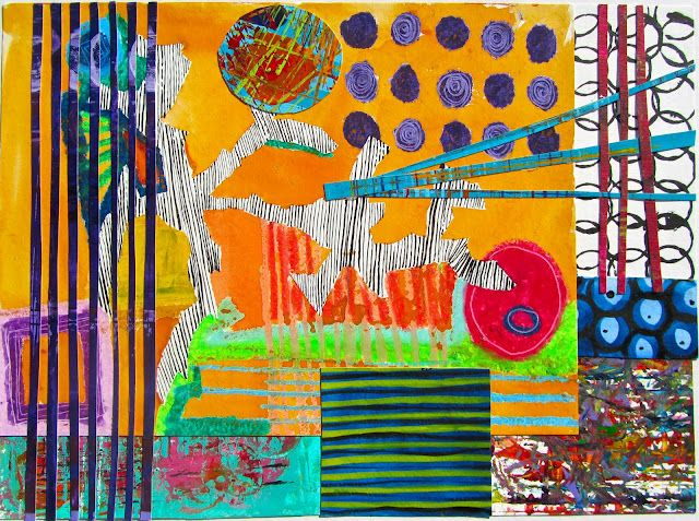 Mollie Morrison collage/paintings