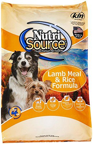 Nutri Source Dry Dog Food Lamb Meal Rice 18 Lbs Read More