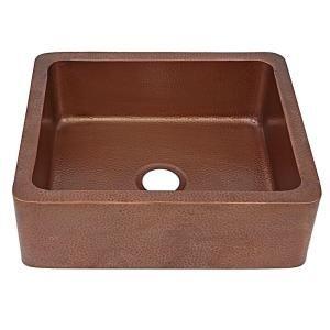 Sinkology Monet Farmhouse Apron Front Handmade Pure Solid Copper 25 In Single Bowl Kitchen Sink In Antique Copper K1a 1209ha Copper Kitchen Sink Copper Farmhouse Sinks Single Bowl Kitchen Sink
